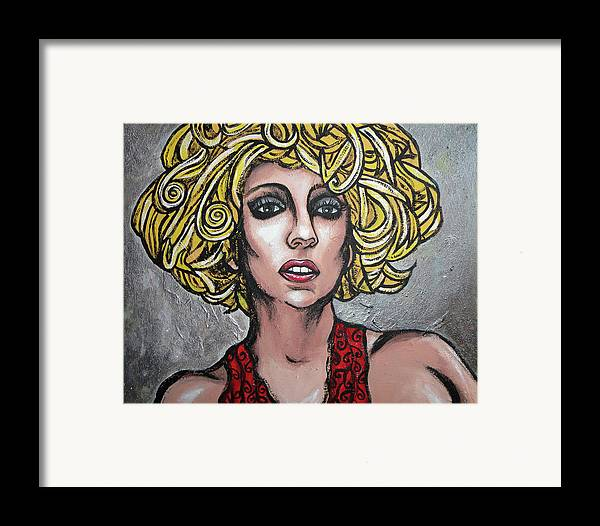 Lady Framed Print featuring the painting Gaga by Sarah Crumpler