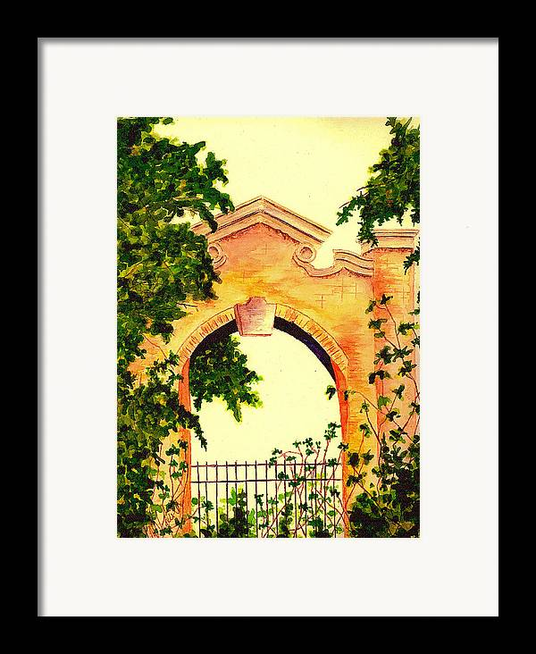 Garden Framed Print featuring the painting Garden Scene by Michael Vigliotti