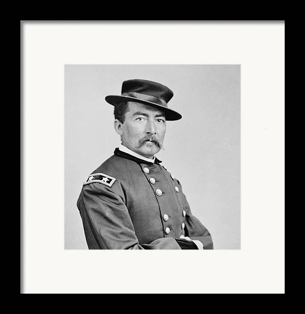 General Framed Print featuring the photograph General Sheridan by War Is Hell Store