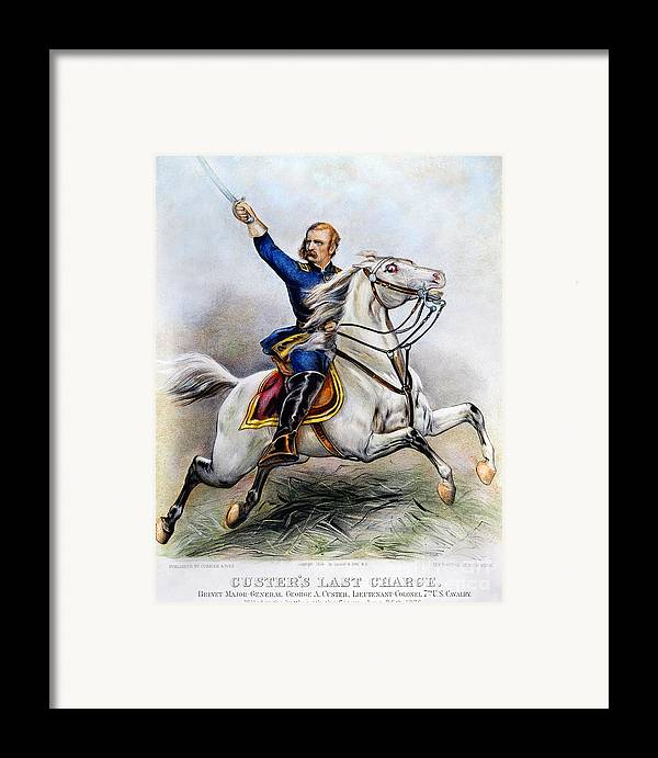 1876 Framed Print featuring the photograph George Armstrong Custer by Granger