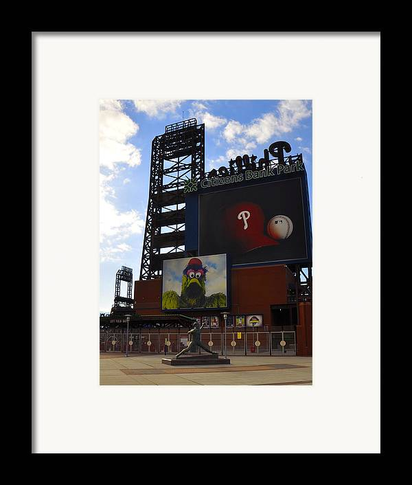 Sports Framed Print featuring the photograph Go Phillies - Citizens Bank Park - Left Field Gate by Bill Cannon