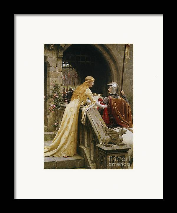 God Speed Framed Print featuring the painting God Speed by Edmund Blair Leighton