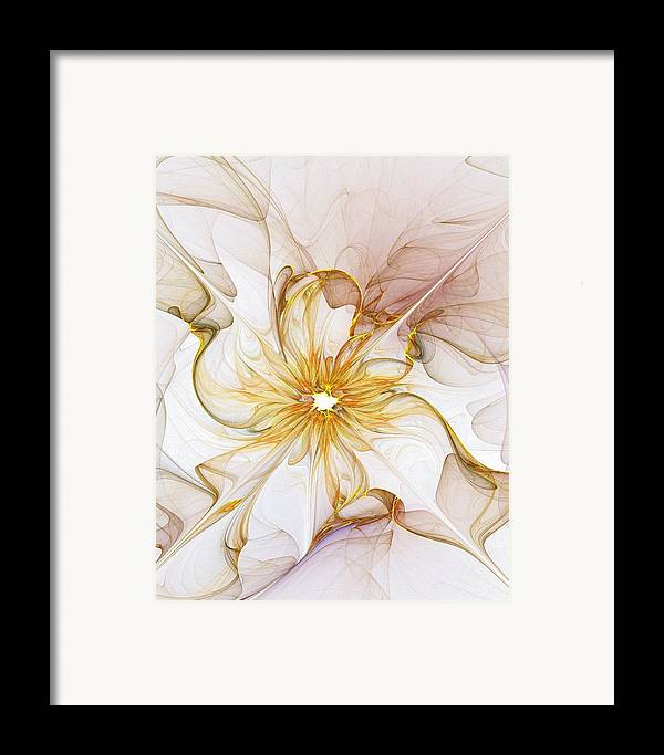 Digital Art Framed Print featuring the digital art Golden Glow by Amanda Moore