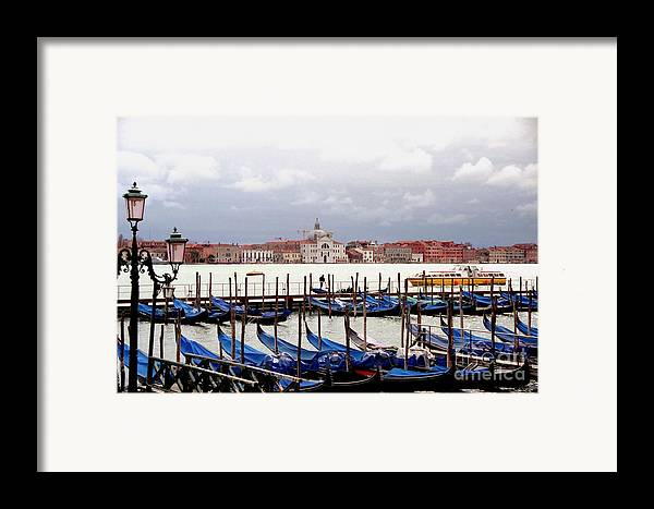 Venice Framed Print featuring the photograph Gondolas In Venice by Michael Henderson