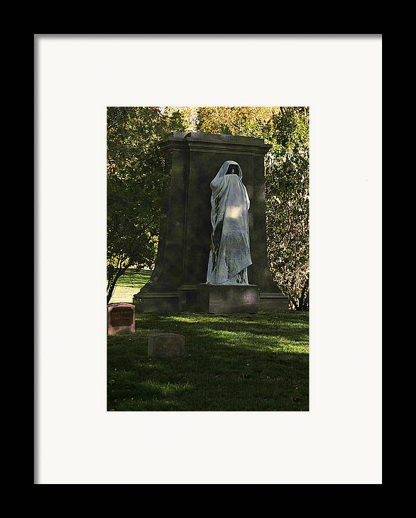 Graveyard Framed Print featuring the photograph Graceland Chicago - The Place Where The Spirits Roam by Christine Till