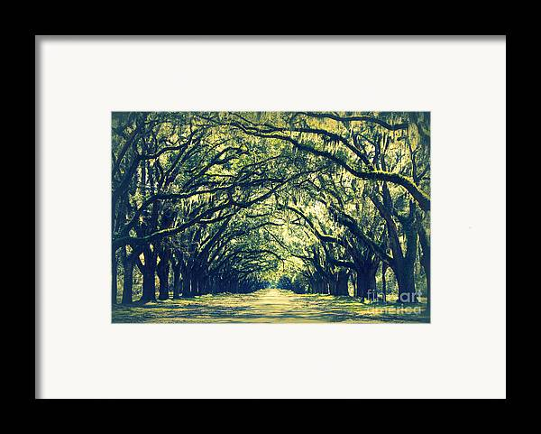 Green Framed Print featuring the photograph Green World by Carol Groenen