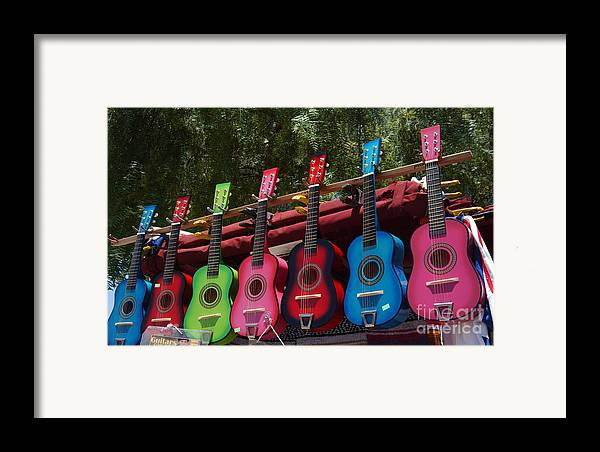 Guitars Framed Print featuring the photograph Guitars In Old Town San Diego by Anna Lisa Yoder