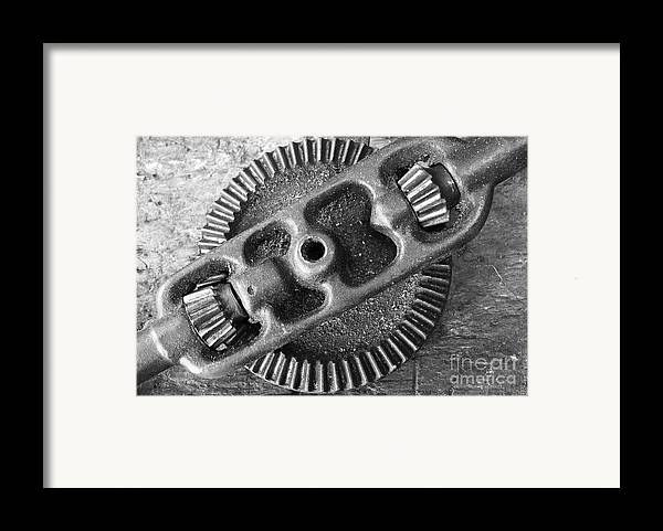 Hand Drill Framed Print featuring the photograph Hand Drill Closeup by Gaspar Avila