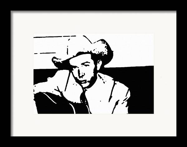 Musicians Framed Print featuring the painting Hank Williams by Jeff DOttavio