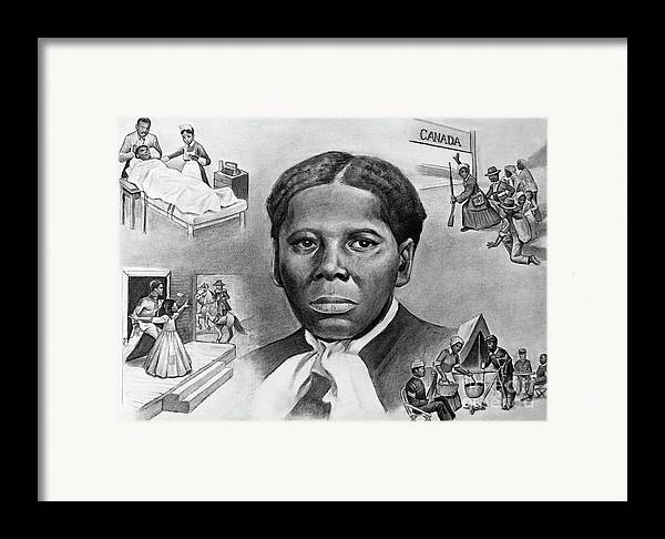 Harriet Tubman Framed Print featuring the painting Harriet Tubman by Curtis James