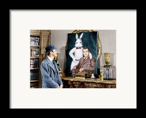 1950 Movies Framed Print featuring the photograph Harvey, James Stewart, 1950 by Everett