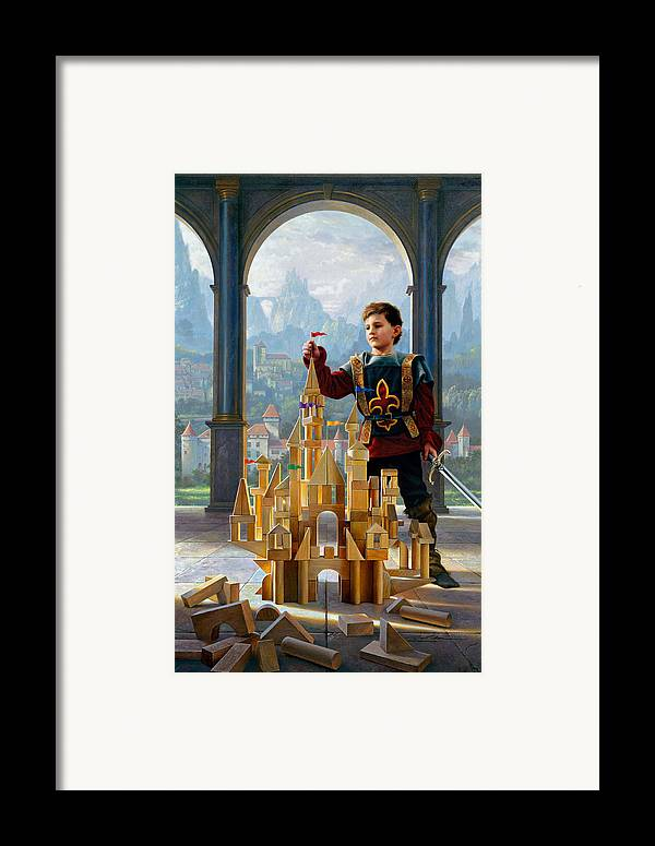 King Framed Print featuring the painting Heir To The Kingdom by Greg Olsen
