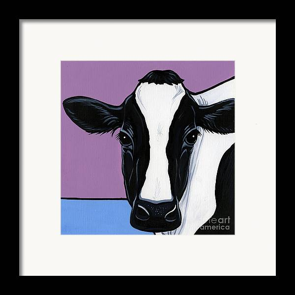 Cow Framed Print featuring the painting Holstein by Leanne Wilkes