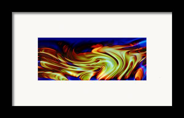 Abstract Framed Print featuring the digital art Hot Wheels by Evelyn Patrick