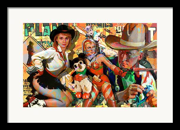 Sci-fi Framed Print featuring the painting How The West Was Won by Robert Anderson