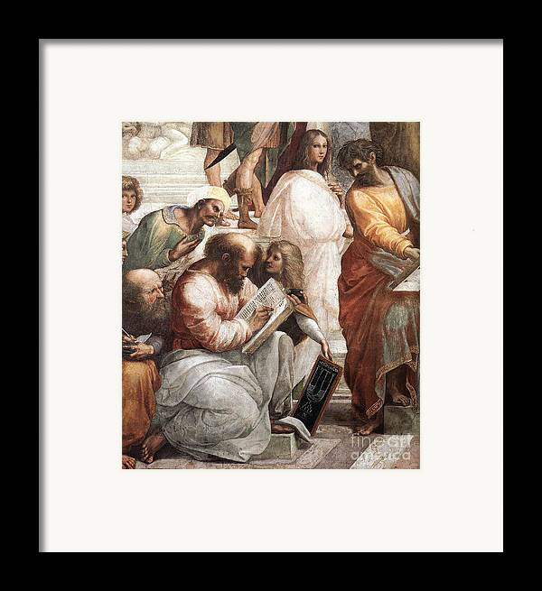 Science Framed Print featuring the photograph Hypatia Of Alexandria, Mathematician by Science Source