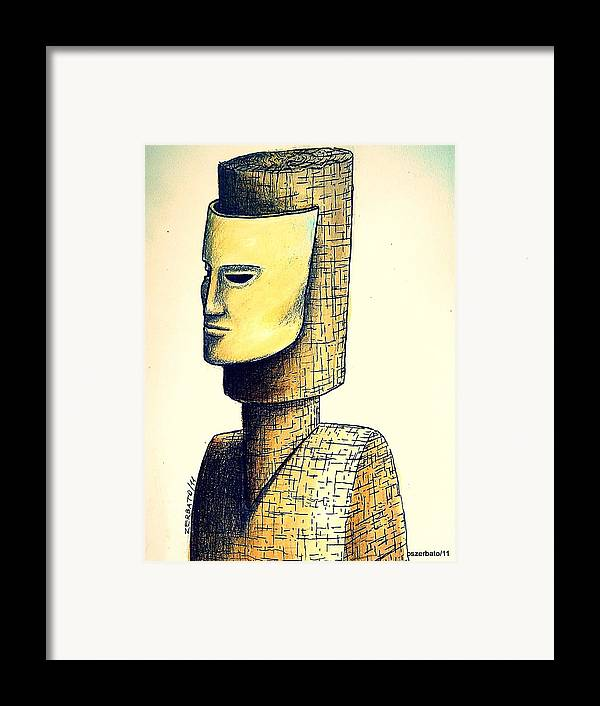 Hypertrophy Of Consciousness Framed Print featuring the digital art Hypertrophy Of Consciousness by Paulo Zerbato
