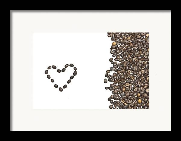 Coffee Beans Framed Print featuring the photograph I Love Coffee by Joana Kruse