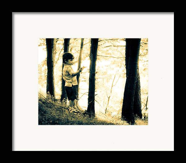 Human Framed Print featuring the photograph Imagination And Adventure by Bob Orsillo