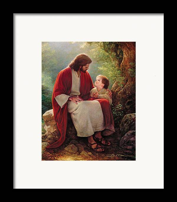 Jesus Framed Print featuring the painting In His Light by Greg Olsen