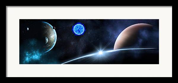 Abstract Framed Print featuring the digital art in Space by Svetlana Sewell