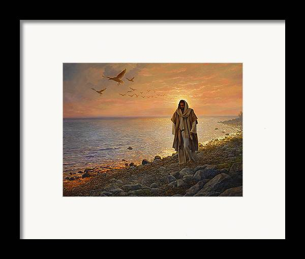Jesus Framed Print featuring the painting In The World Not Of The World by Greg Olsen