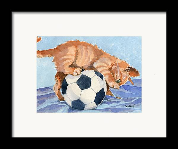 Cat Framed Print featuring the painting In Training by Marsha Elliott