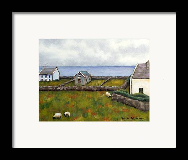 Oil Framed Print featuring the painting Inishmore Island by Brenda Williams