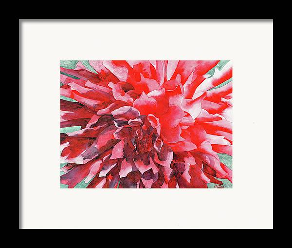 Watercolor Framed Print featuring the painting Interesting by Ken Powers
