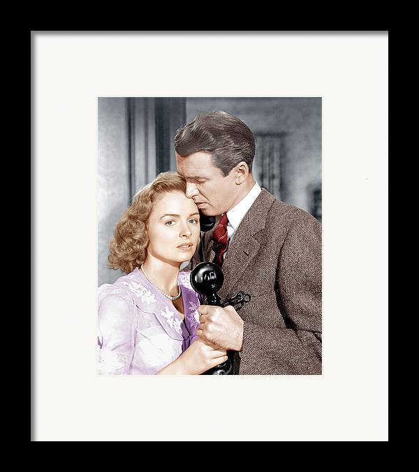 1940s Movies Framed Print featuring the photograph Its A Wonderful Life, From Left Donna by Everett