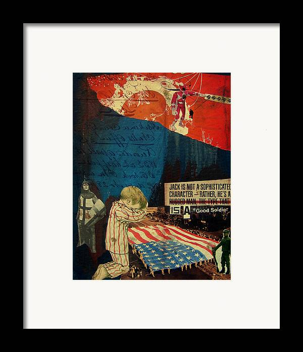War Framed Print featuring the mixed media Jack by Adam Kissel