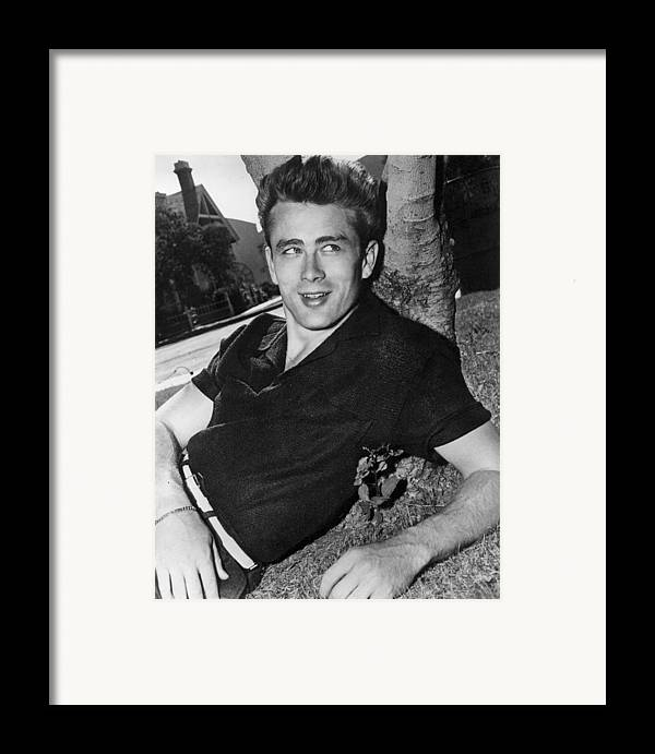 1950s Framed Print featuring the photograph James Dean by Everett