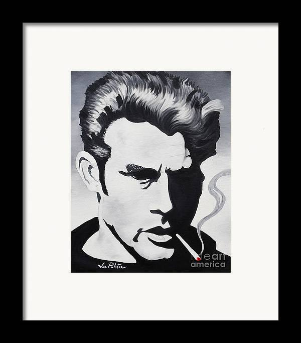James Dean Framed Print featuring the painting James Dean by Joseph Palotas