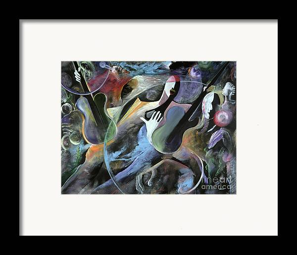 Jazz Framed Print featuring the painting Jammin by Ikahl Beckford