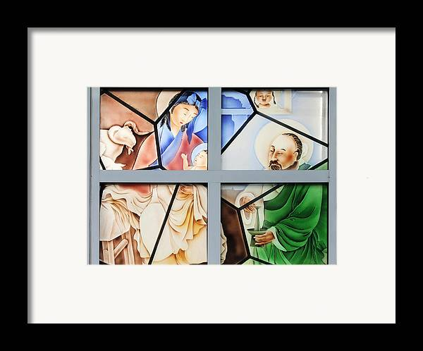 Family Framed Print featuring the photograph Jesus Is Chinese by Christine Till