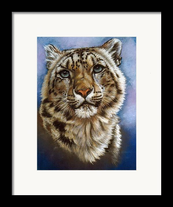 Snow Leopard Framed Print featuring the painting Jewel by Barbara Keith