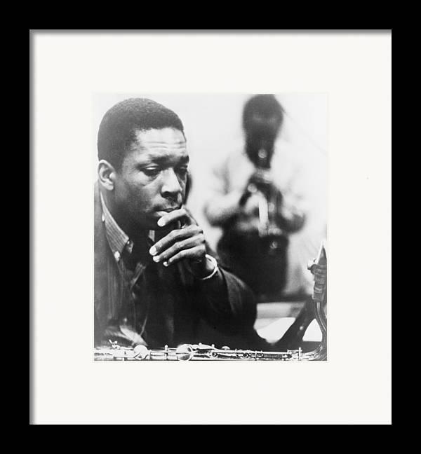 History Framed Print featuring the photograph John Coltrane 1926-1967, Master Jazz by Everett