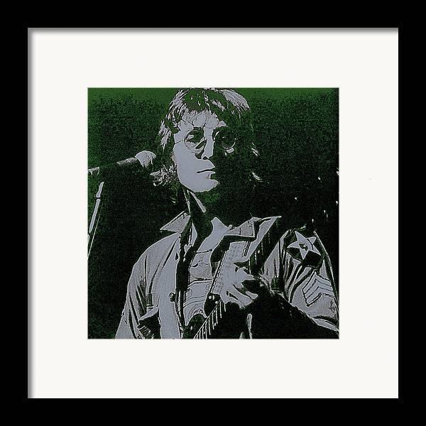 John Lennon Framed Print featuring the photograph John Lennon by David Patterson