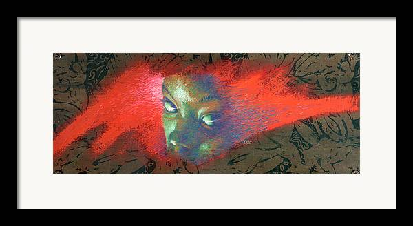 Portraits Framed Print featuring the painting Junglevision by Ken Meyer jr