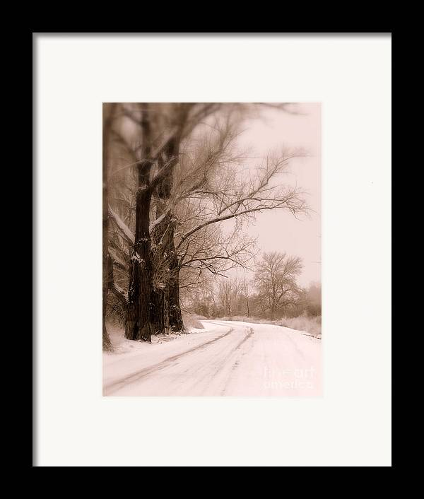 Winter Framed Print featuring the photograph Just Around The Bend by Carol Groenen