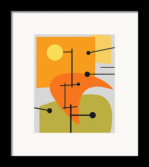 Abstract Framed Print featuring the digital art Juxtaposing Thoughts by Richard Rizzo