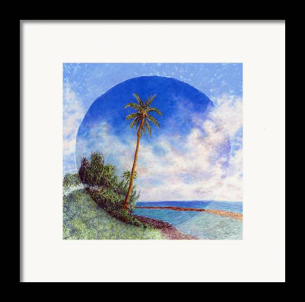 Rainbow Colors Pastel Framed Print featuring the painting Ke'e Palm by Kenneth Grzesik