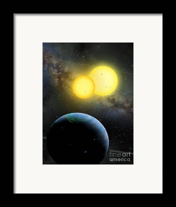 Lynette Cook Framed Print featuring the painting Kepler-35 by Lynette Cook