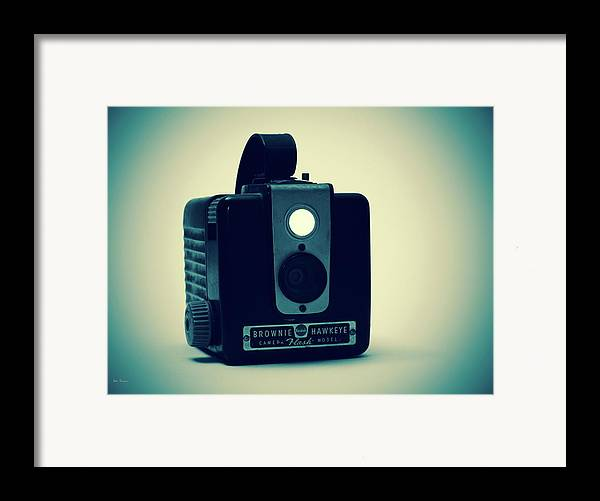 Camera Framed Print featuring the photograph Kodak Brownie by Bob Orsillo