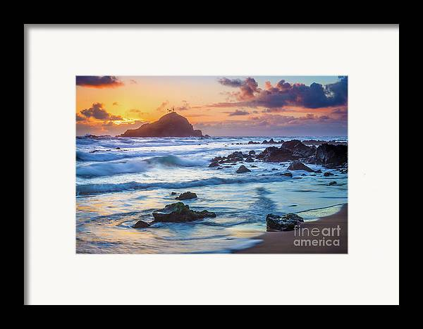 America Framed Print featuring the photograph Koki Beach Harmony by Inge Johnsson