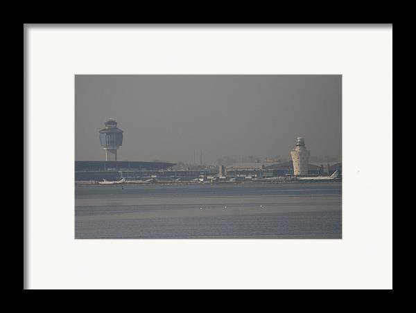La Guardia Airport Framed Print featuring the photograph La Guardia From The Bronx by Christopher Kirby