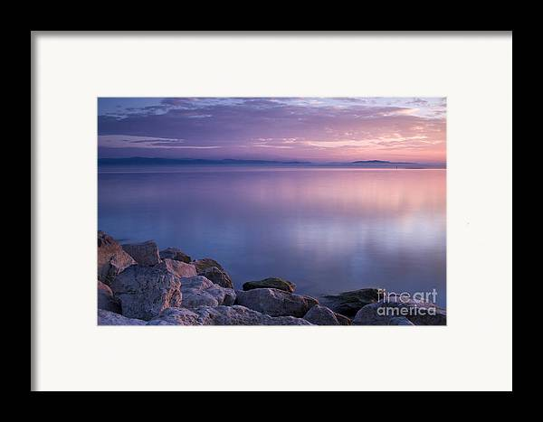 Landscape Framed Print featuring the photograph Lake Constance by Silke Magino