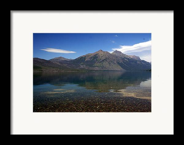 Landscape Framed Print featuring the photograph Lake Mcdonald Reflection Glacier National Park 2 by Marty Koch