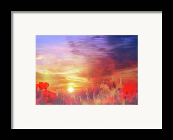 Landscape Framed Print featuring the photograph Landscape Of Dreaming Poppies by Valerie Anne Kelly