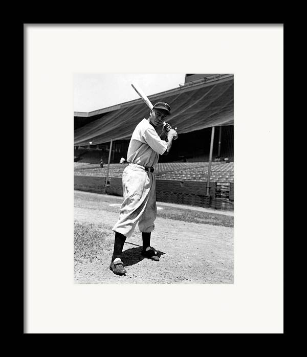 1940s Portraits Framed Print featuring the photograph Larry Doby, Circa 1947 by Everett